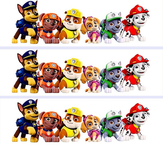 Paw Patrol Pups Cake Strips Edible Decoration By RobinBlues