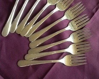 Argyle silverplate forks  Set of 10
