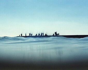 Anglers on the wharf in Arkadia nearby Odessa, Ukraine 1997