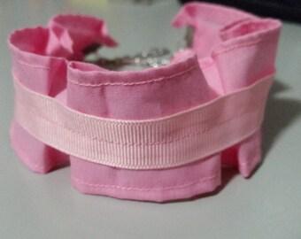 Large Pink Ruffled Choker