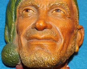"""Bosson Chalkware Head -- """"Corsican"""" from 1958"""