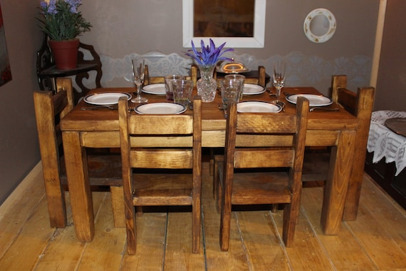 room table and chairs handmade wooden 18 inch doll dining room table