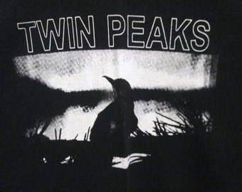 Twin Peaks Black T-Shirt ~~FREE SHIPPING~~David Lynch Angelo Badalamenti Blue Velvet