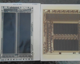 Vintage Original Photo Intel Micro Chip Silicon Valley Photomicrography
