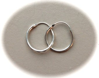 "Sterling Silver Hoops .5"" Diameter"