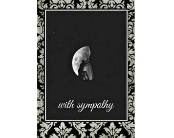 Sympathy Moon. Condolence Card, Sympathy Card
