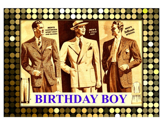 Birthday Boy Card Retro Male Birthday Card – Vintage Birthday Cards for Men