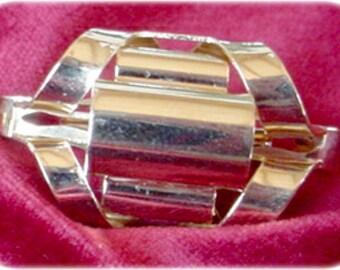 Gold Scarf Clip Unique Design
