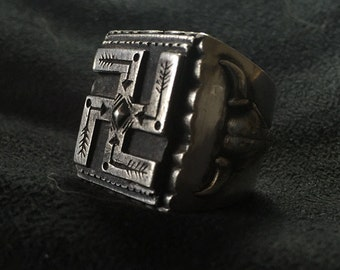 Symbol of Good luck and Auspicious Swastika ring