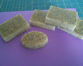 Organic goats milk soap with grapefruit oil and calendula petals