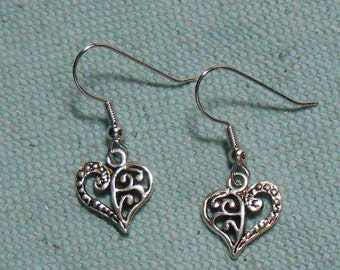 Swirly Heart Earrings were 5.00 now 2.50