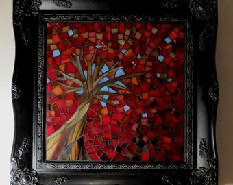 Autumn Tree Mosaic - SOLD, made to order