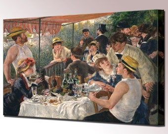 Luncheon of the Boating Renoir Canvas Wall Art Print Picture Party Ready To Hang Decor