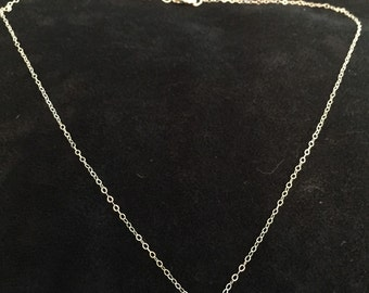 Sterling cable chain with small leaf charm