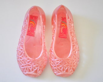 1980s Pink Baby Jelly Shoes