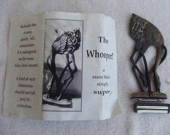 Vintage Whooping Crane Reusable Shaving Razor