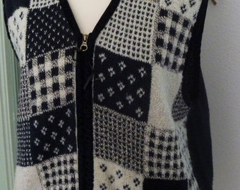 """' 70s vest """"Erika-a knit flower"""" Made in Italy"""