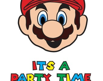 Mario Party Invitation - DIY PRINTABLE INVITATION