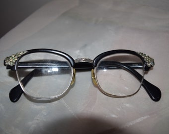 American Optical Vintage Women's Decorative Horn-Rim Glasses
