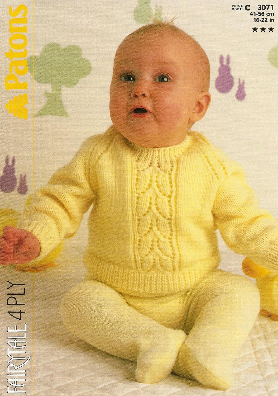 Knit Leaf Pattern Baby Sweater : Knitting Pattern Baby Sweater Leaf Pattern 4 by ...