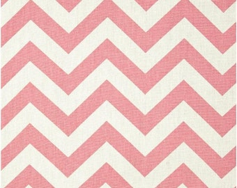 1/2 Yard Pink and White Chevron Fabric - Premier Prints Baby Pink and White Zig Zag Chevron Fabric Pink bubblegum pink HALF YARD