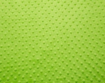 1 Yard Dark Lime Shannon Fabrics Dot Minky Fabric - Shannon Fabrics Cuddle Dimple Minky Fabric ONE YARD lime green