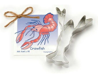 Ann Clark Crawfish Cookie Cutter with Recipe Card - Made in the USA-01-167