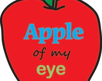 Apple of My Eye Notecard