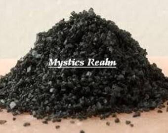 Witch's Black Salt 2 oz. - Black Salt For Witches - Wicca Black Salt - Pagan Black Salt - Ritual Black Salt - Witchcraft Black Salt