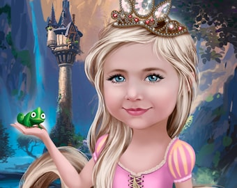 Custom Princess Portrait in Disney style