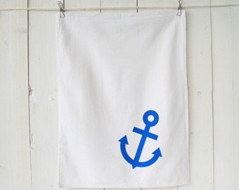 Dishcloth anchor blue