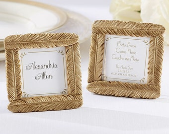 Gold Feather Frame (Set of 12)