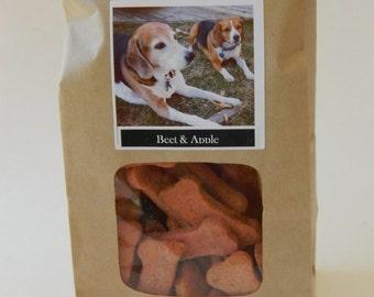 Beet & Apple - wheat free hand cut dog cookies