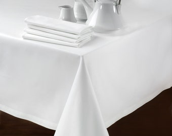 HOTEL TABLE WHITE -  Tablecloth, Dinning, Dinner Tablecloth, classic, wedding, party, event, home decor