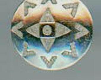 Small Navajo Silver button
