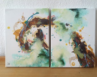 2 Piece Original Abstract Painting -PROCEEDS FOR CHARITY-