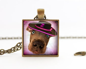 Funny Dog - Handmade Pendant Necklace