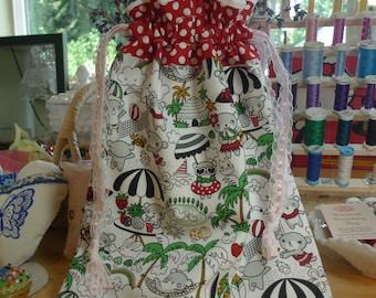 Lined Drawstring Bag Toki Doki Kawaii