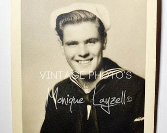 Vintage Handsome Sailor Photo #638