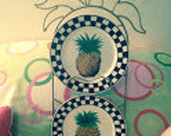 Pineapple, Pineapple Plates (set of 2), Hospitality, Friendship, Welcome, Dual Pineapple plate holder listed separately