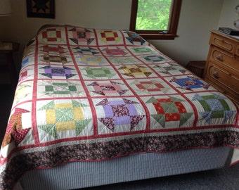 Wonderful Churn Dash quilt!