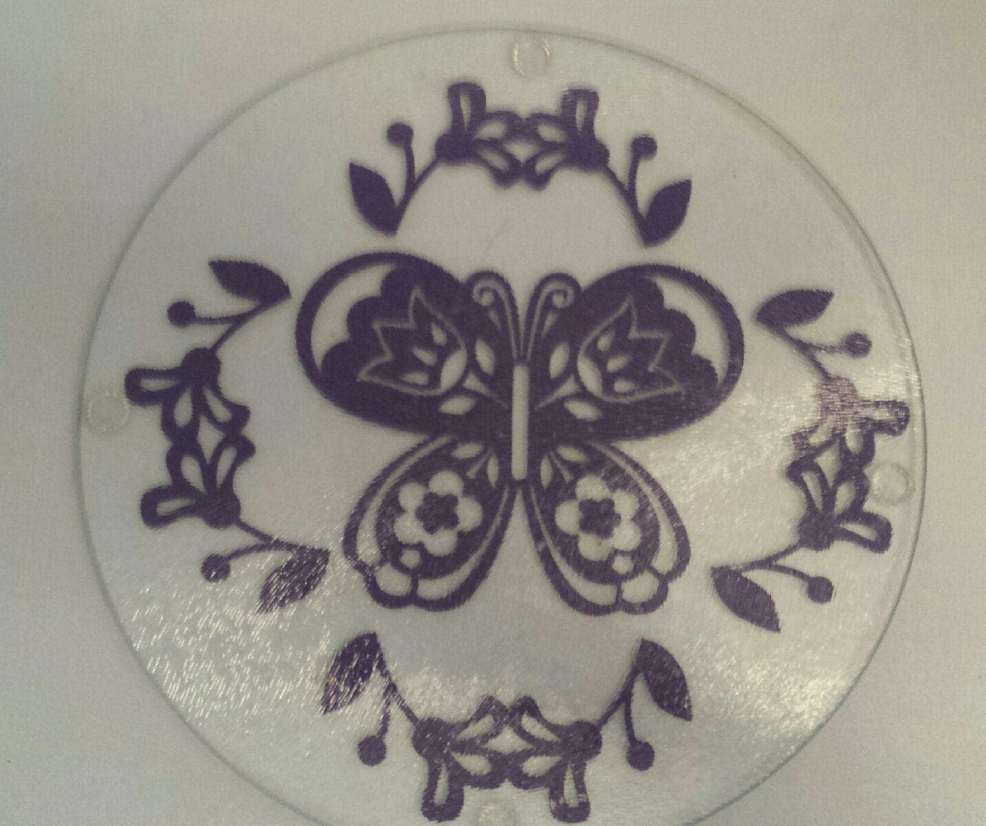Decorative Butterfly Glass Cutting Board Kitchen By