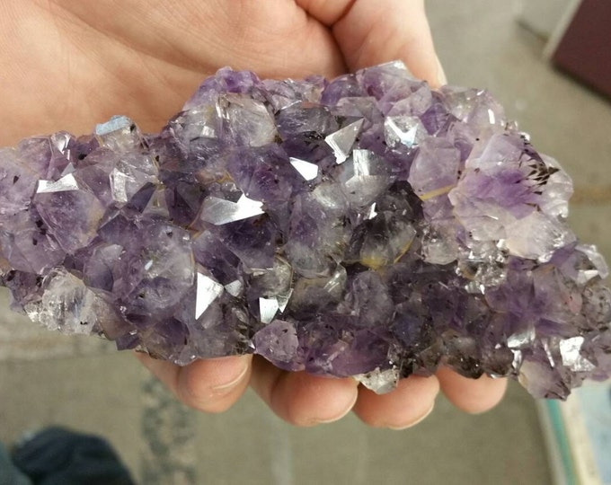 Amethyst Crystal From Brazil- 5 inches Healing Crystals \ Reiki \ Healing Stone \ Amethyst Cluster \ Purple \ Home Decor \ Spirituality