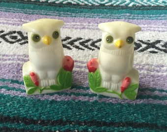 50's owl salt and pepper shakers