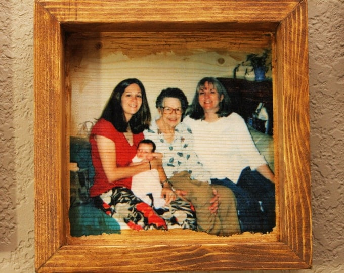 Framed Wood Photo Panel - Your Photos on Wood!