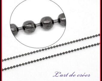 10 ft chain ball balls Metal gunmetal - 1.5 mm mm