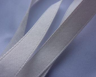 25, 10, 6mm Pure White Cotton Satin Ribbon (per meter)
