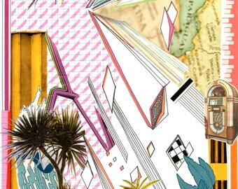 Miami Vice - giclee print of original collage