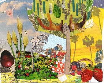 Tree - giclee print of original collage