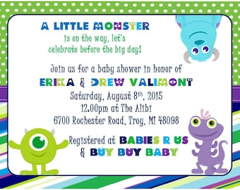 monsters inc baby shower invitation printable